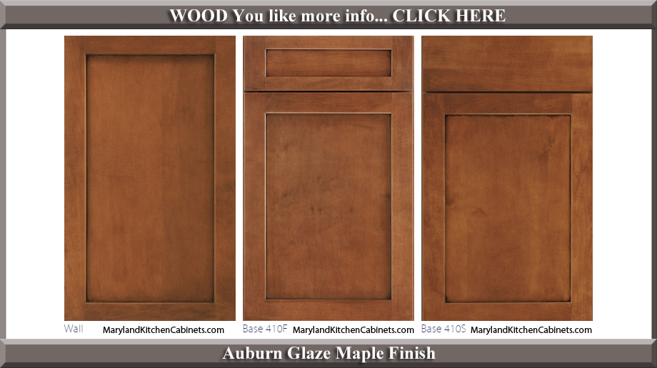 410 Auburn Glaze Maple Finish Cabinet Door Style