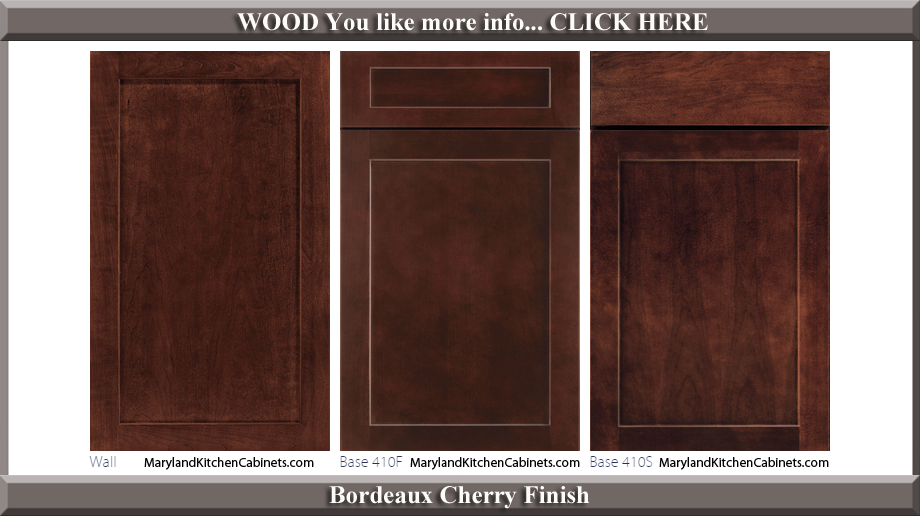 410 Bordeaux Cherry Finish Cabinet Door Style