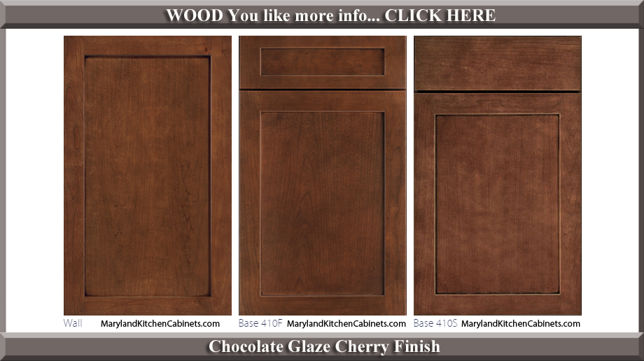 410 Chocolate Glaze Cherry Finish Cabinet Door Style