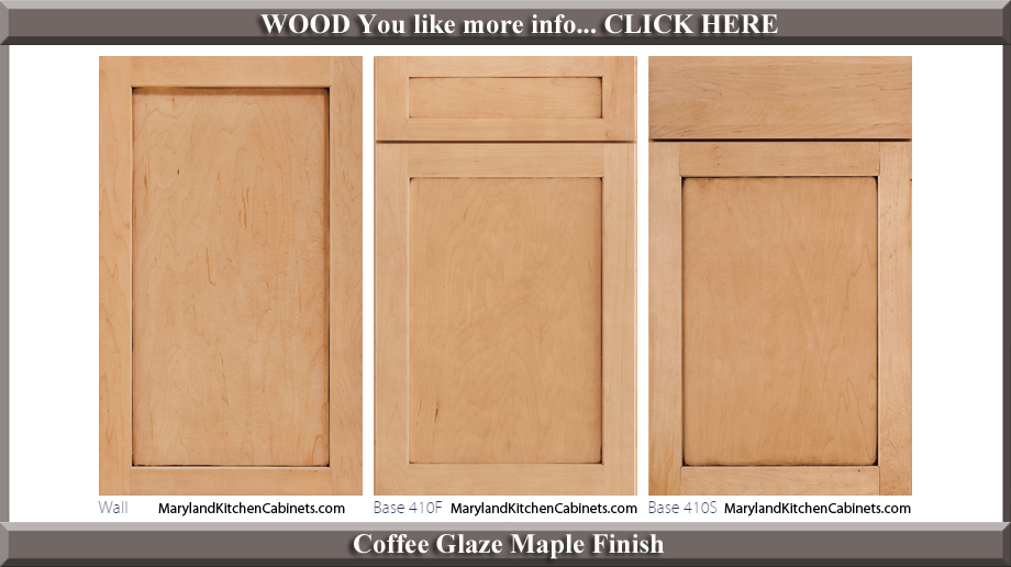 410 Coffee Glaze Maple Finish Cabinet Door Style