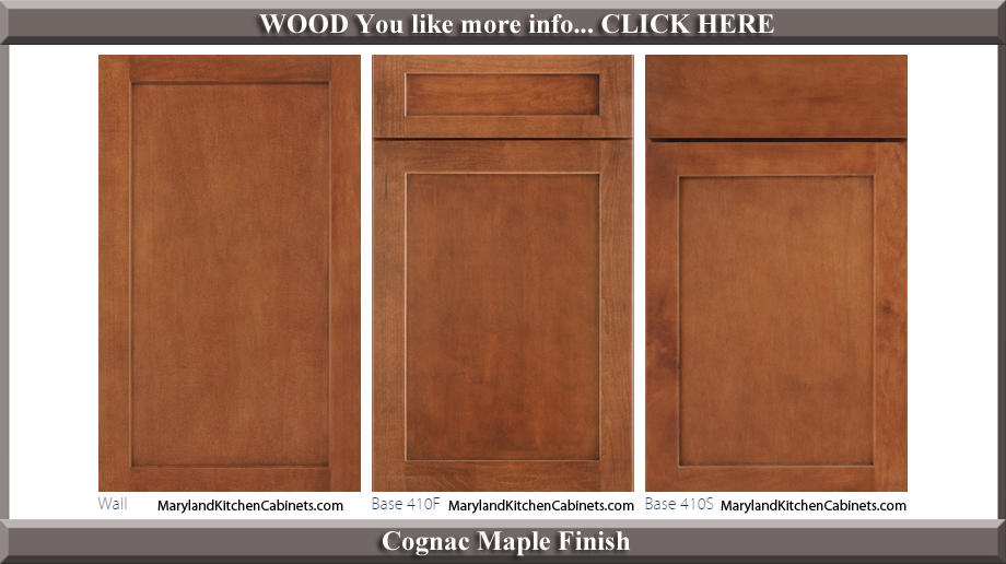 410 Cognac Maple Finish Cabinet Door Style