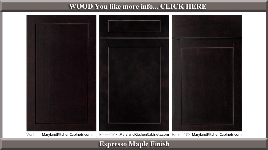 410 Espresso Maple Finish Cabinet Door Style