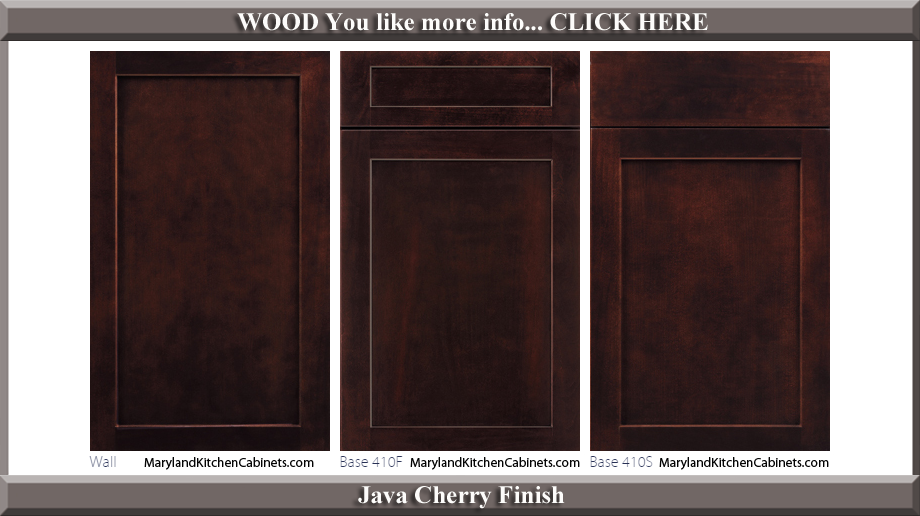 410 Java Cherry Finish Cabinet Door Style