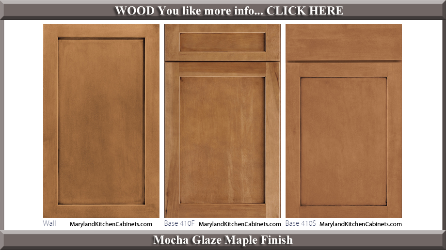 410 Mocha Glaze Maple Finish Cabinet Door Style
