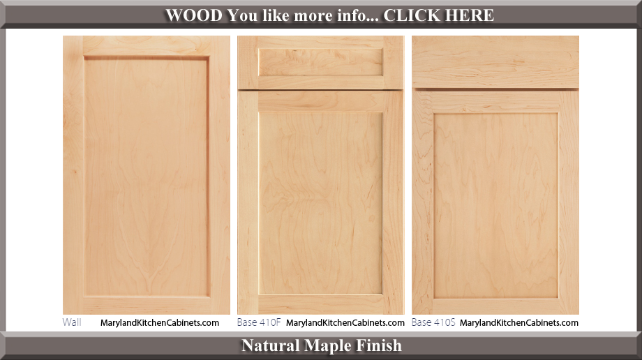 410 Natural Maple Finish Cabinet Door Style