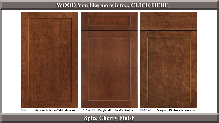 410 Spice Cherry Finish Cabinet Door Style
