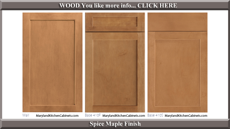 410 Spice Maple Finish Cabinet Door Style