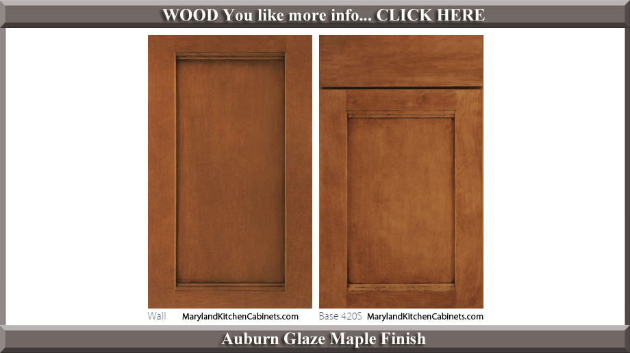 420 Auburn Glaze Maple Finish Cabinet Door Style