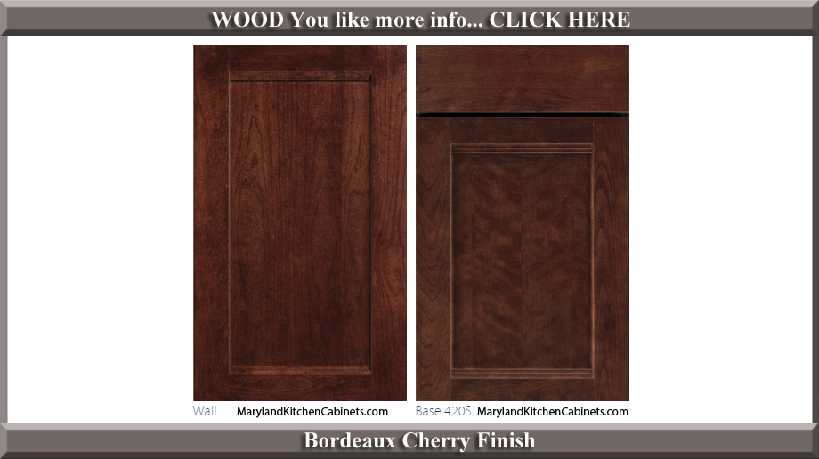 420 Bordeaux Cherry Finish Cabinet Door Style
