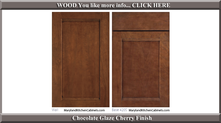 420 Chocolate Glaze Cherry Finish Cabinet Door Style
