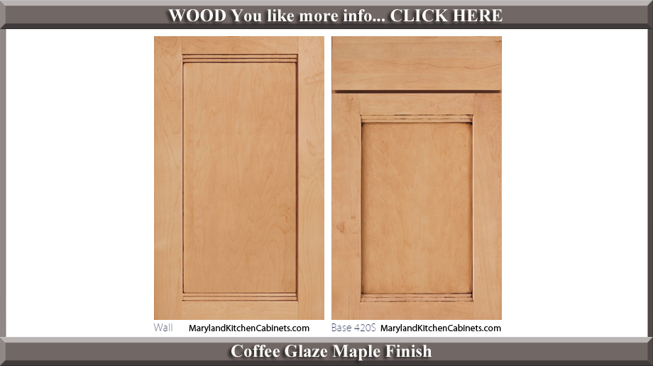 420 Coffee Glaze Maple Finish Cabinet Door Style