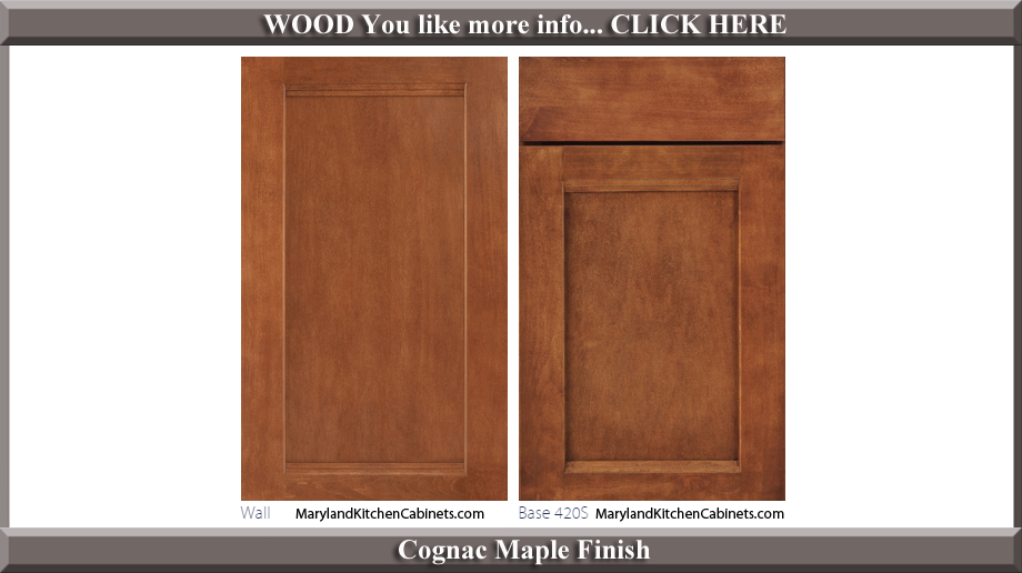 420 Cognac Maple Finish Cabinet Door Style