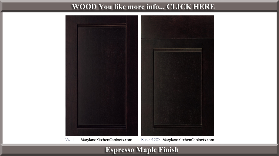 420 Espresso Maple Finish Cabinet Door Style