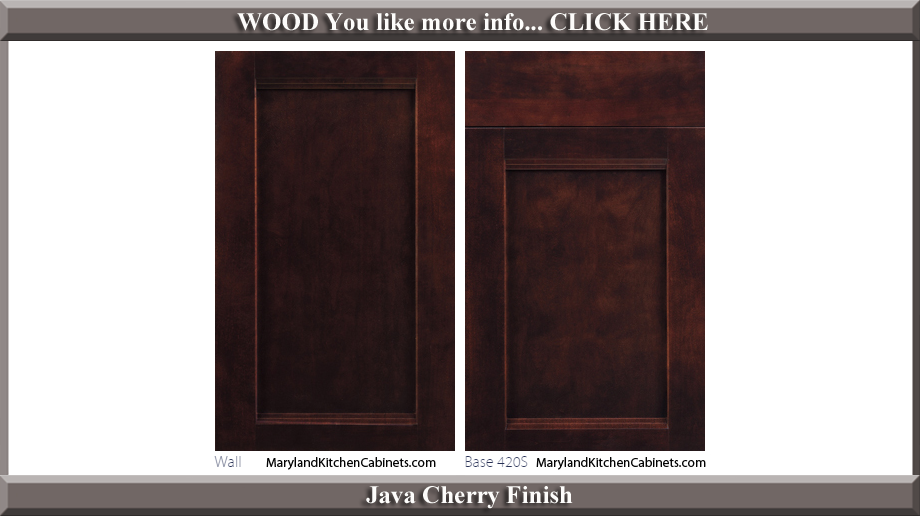 420 Java Cherry Finish Cabinet Door Style