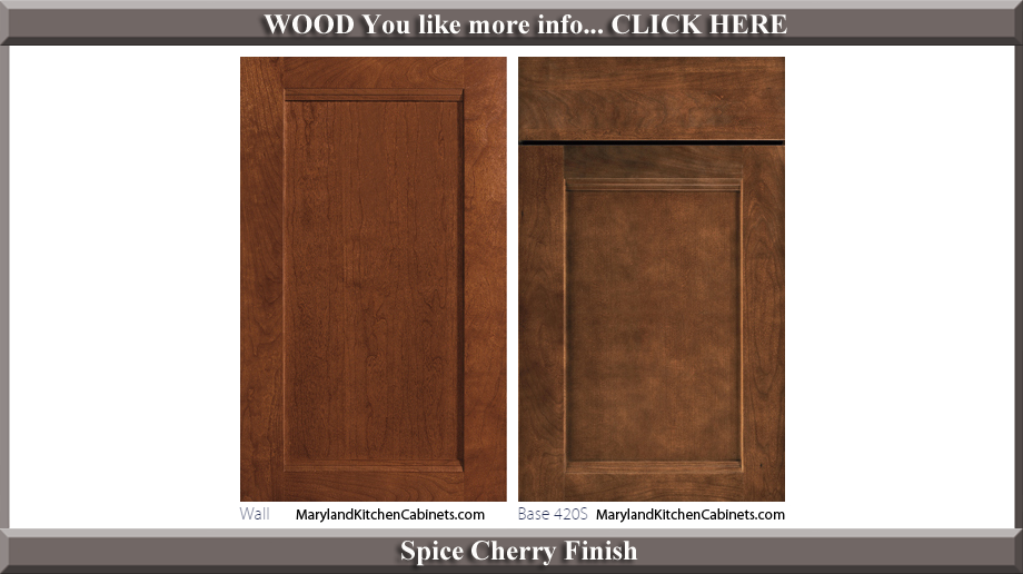 420 Spice Cherry Finish Cabinet Door Style