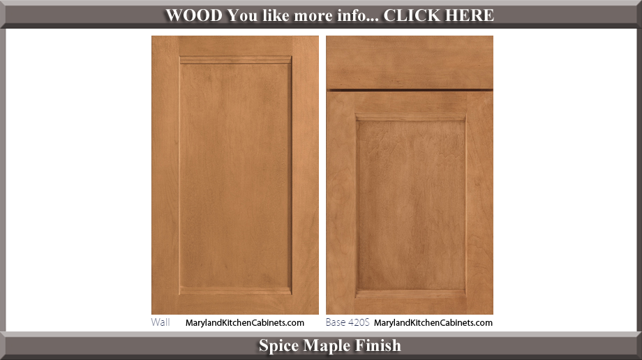420 Spice Maple Finish Cabinet Door Style