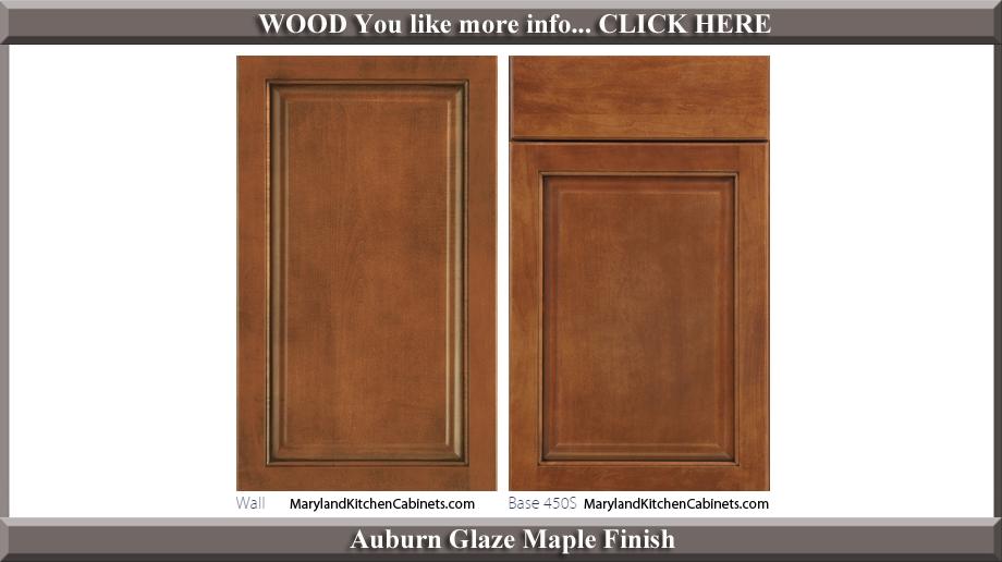 450 Auburn Glaze Maple Finish Cabinet Door Style