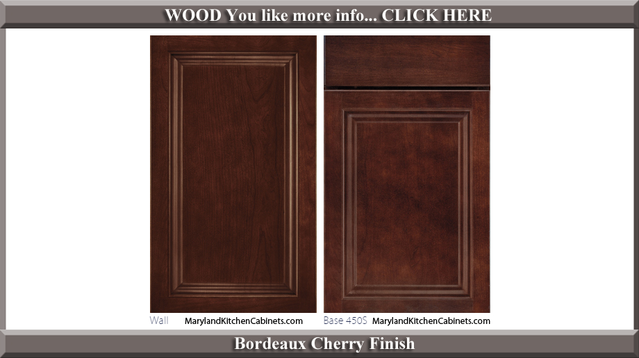 450 Bordeaux Cherry Finish Cabinet Door Style