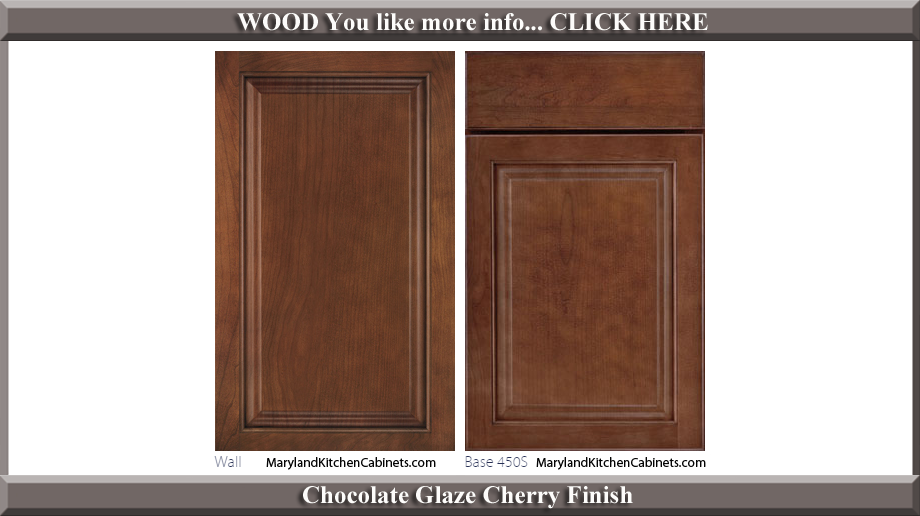 450 Chocolate Glaze Cherry Finish Cabinet Door Style