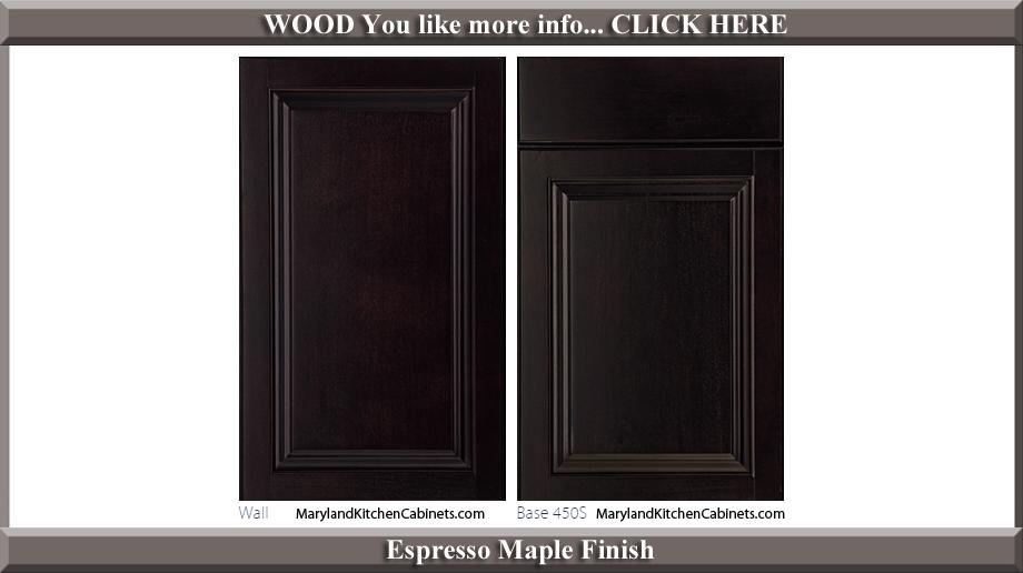 450 Espresso Maple Finish Cabinet Door Style