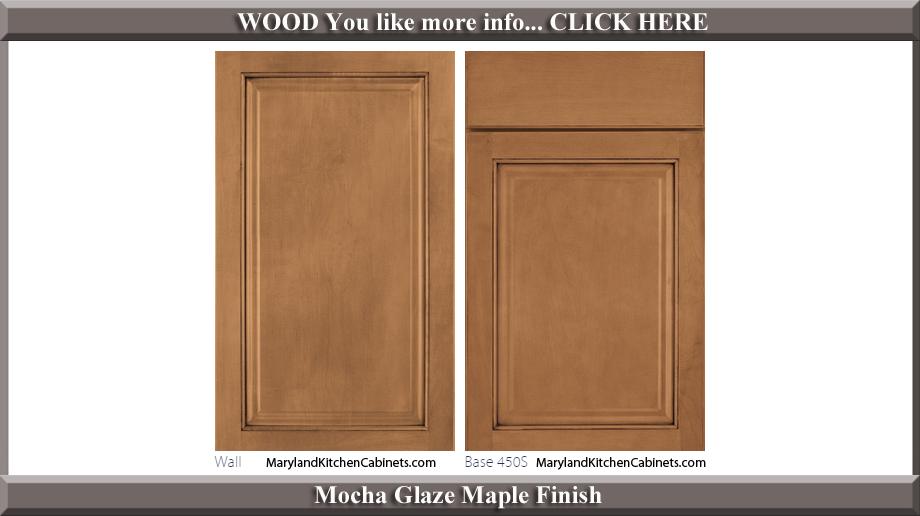 450 Mocha Glaze Maple Finish Cabinet Door Style