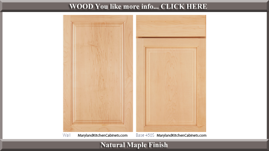 450 Natural Maple Finish Cabinet Door Style