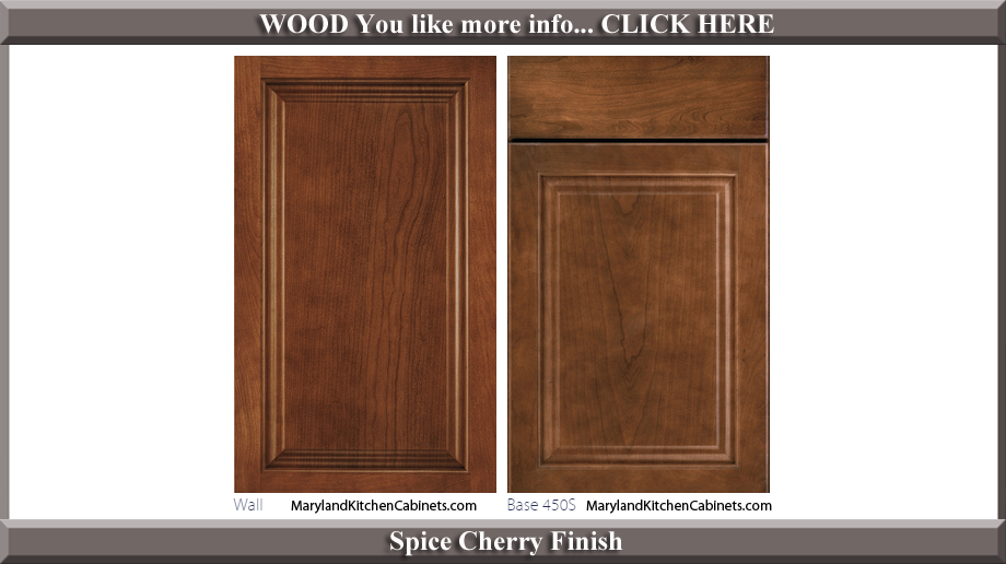 450 Spice Cherry Finish Cabinet Door Style