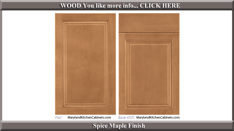 450 Spice Maple Finish Cabinet Door Style