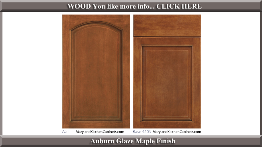 451 Auburn Glaze Maple Finish Cabinet Door Style