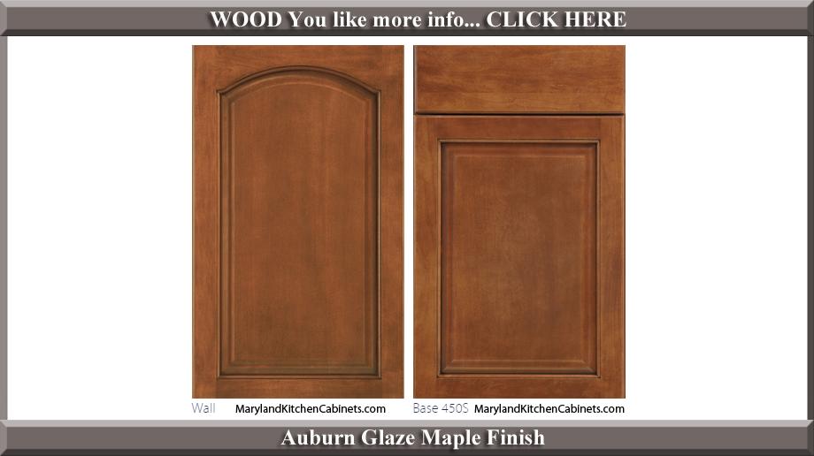 451 Auburn Glaze Maple Finish Cabinet Door Style