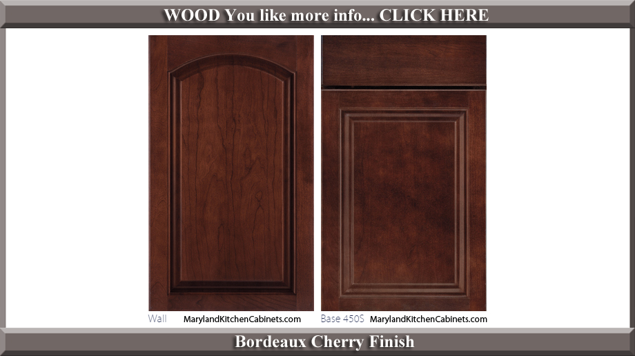 451 Bordeaux Cherry Finish Cabinet Door Style