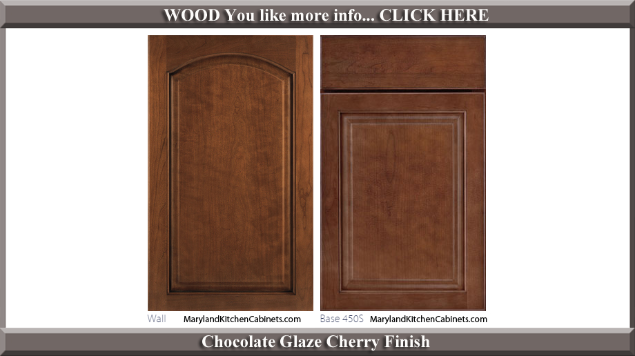 451 Chocolate Glaze Cherry Finish Cabinet Door Style