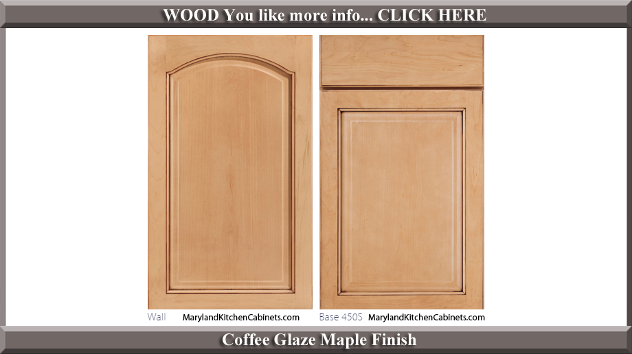 451 Coffee Glaze Maple Finish Cabinet Door Style