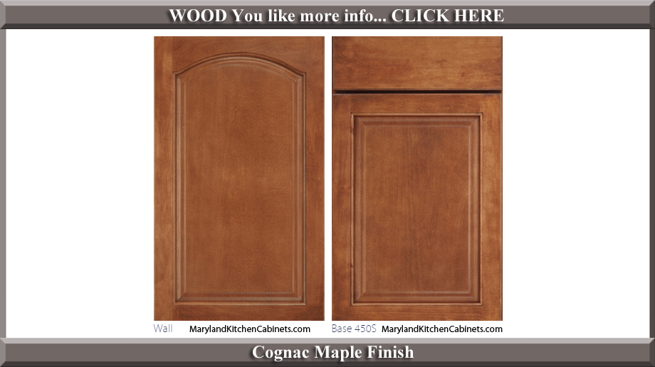 451 Cognac Maple Finish Cabinet Door Style