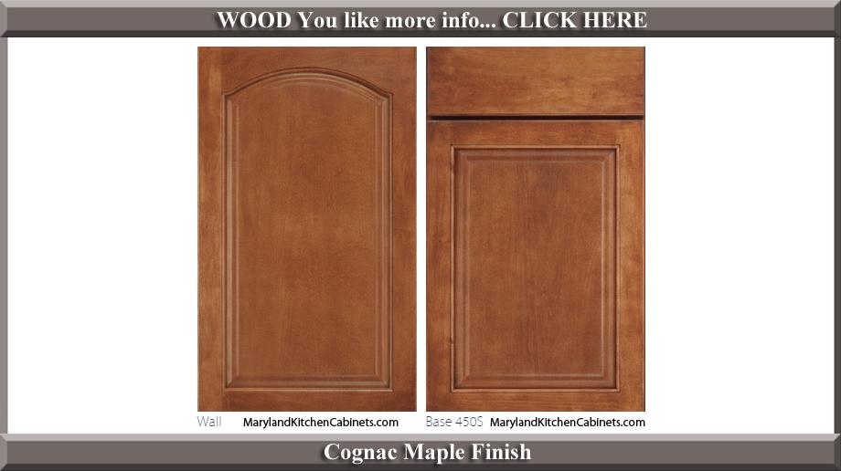451 Cognac Maple Finish Cabinet Door Style