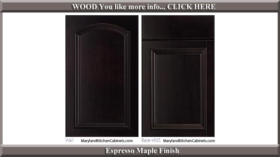 451 Espresso Maple Finish Cabinet Door Style