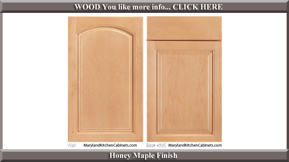 451 Honey Maple Finish Cabinet Door Style