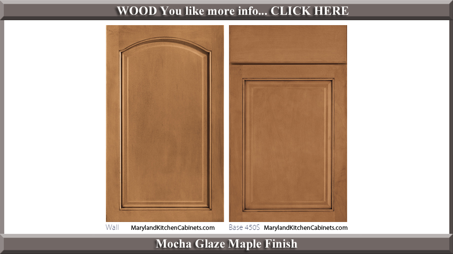 451 Mocha Glaze Maple Finish Cabinet Door Style