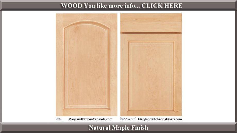 451 Natural Maple Finish Cabinet Door Style