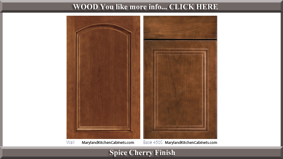 451 Spice Cherry Finish Cabinet Door Style