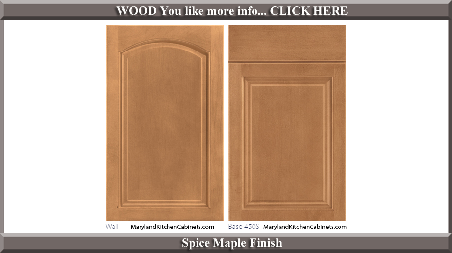 451 Spice Maple Finish Cabinet Door Style