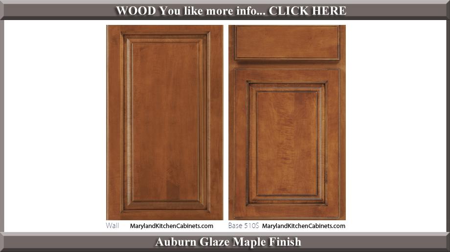 510 Auburn Glaze Maple Finish Cabinet Door Style