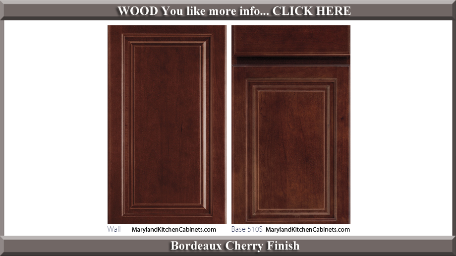510 Bordeaux Cherry Finish Cabinet Door Style