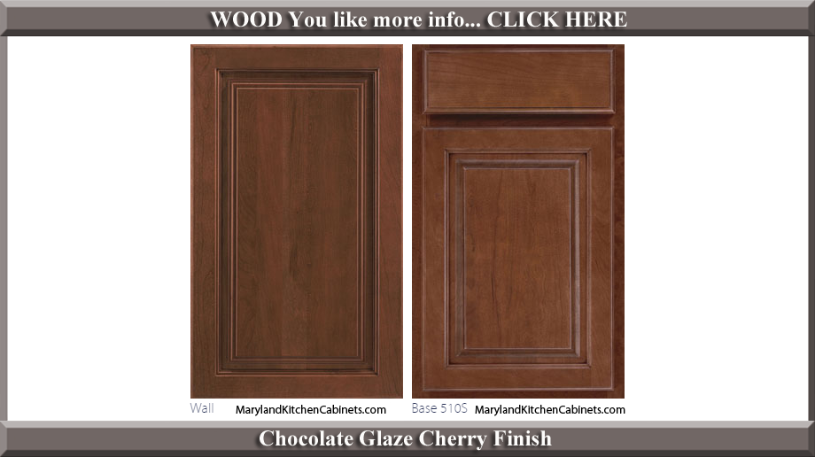 510 Chocolate Glaze Cherry Finish Cabinet Door Style