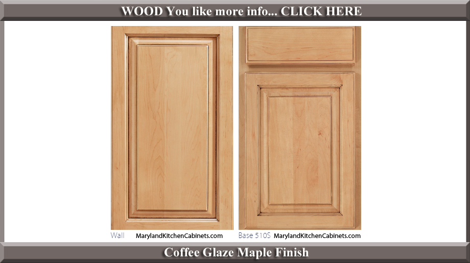 510 Coffee Glaze Maple Finish Cabinet Door Style