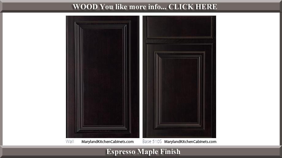 510 Espresso Maple Finish Cabinet Door Style