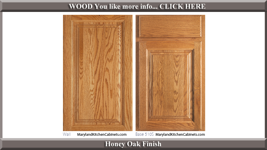 510 Honey Oak Finish Cabinet Door Style