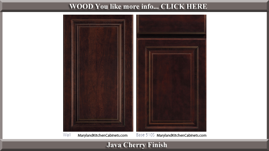510 Java Cherry Finish Cabinet Door Style