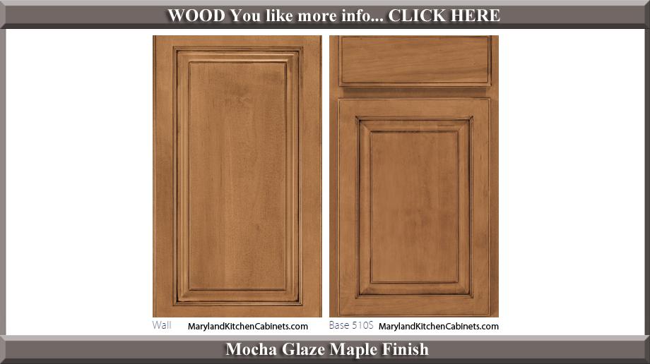 510 Mocha Glaze Maple Finish Cabinet Door Style