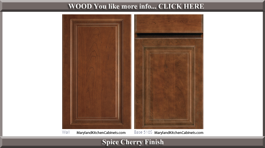 510 Spice Cherry Finish Cabinet Door Style